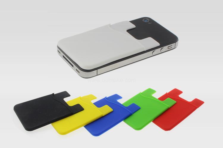 硅膠手機卡套,隨身用品