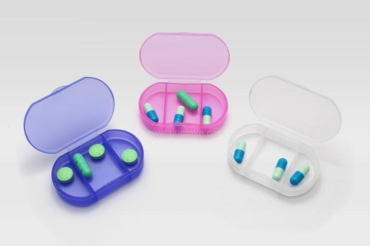 三格藥盒,藥物收納盒,旅行用品