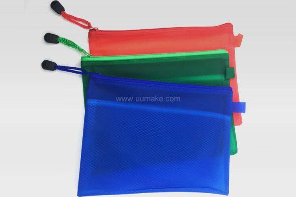 廣告儲物袋,文件袋,拉鏈包,辦公文具,禮品定制,A5磨砂夾網收納袋